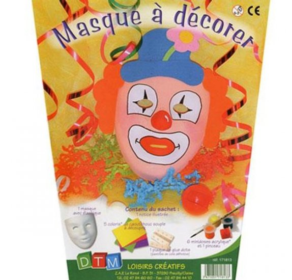 Kit Masque à décorer - DTM - Clown