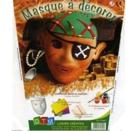 Kit Masque à décorer - DTM - Pirate