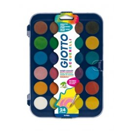 Palette de 24 peintures aquarelles - Giotto - Couleurs intenses