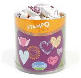 "Kit Stampo Scrap 'Aladine' Tampons ""Coeurs"""