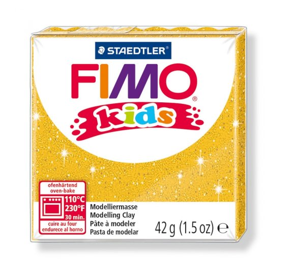 Fimo 'Kids' 42 g - Or Pailleté