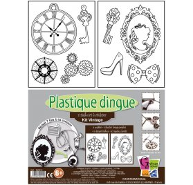 Kit Plastique Dingue 'PW International' 2 Sautoirs Vintage