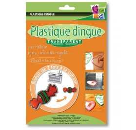 Plastique Dingue 'PW International' Transparent 26cmx20cm Qté 7