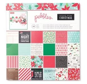 Assortiment 30x30 - Pebbles - Home For Christmas - Qté 48