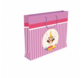 Sac shopping anniversaire fille 'Clairefontaine' 35x10x22.5cm