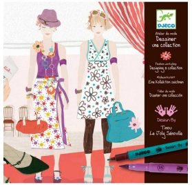 Kit de coloriage 'Djeco' Atelier de mode