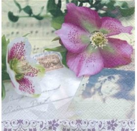 Serviettes 33x33 'Nouveau' Christmas Rose