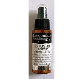 Encre en spray 'Colourcraft - Brusho Shimmer Spray' Bronze 60ml