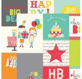 Papier double 30x30 'Simple Stories - Let's Party' 4x4 & 4x6 Vertical Elements