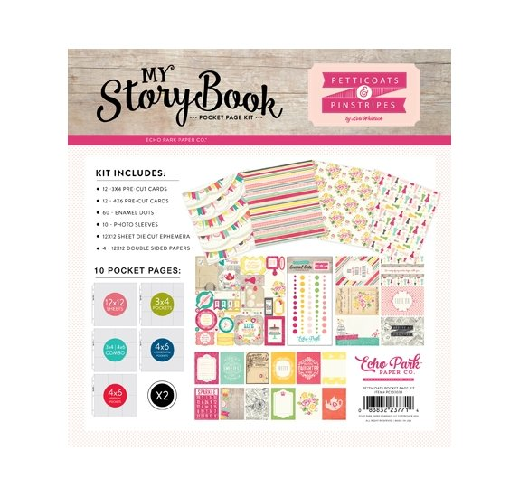 Kit 30x30 'Echo Park Paper - Petticoats' My Story Book