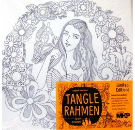 Châssis en toile à colorier 'MHP - Tangle Rahmen' Fille et Papillon