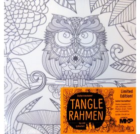 Châssis en toile à colorier 'MHP - Tangle Rahmen' Hibou