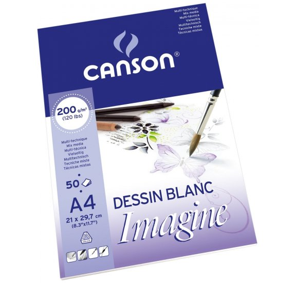 Bloc de 50 papiers A4 'Canson - Imagine' Mix Media