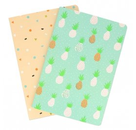 Lot de 2 carnets  A5 'Rico Desing - Paper Poetry' Tropical Spring