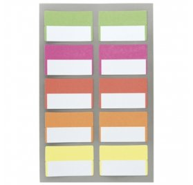 Autocollants 'Rico Design - Paper Poetry' Onglets fluo