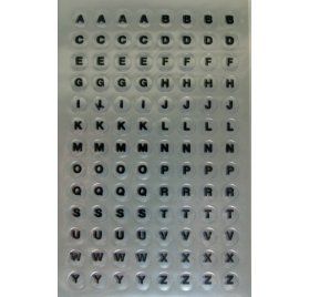 Autocollants 'Rico Design - Paper Poetry' Alphabet transparent