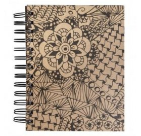Carnet spiralé à colorier 'Rayher - Tangle' Memory Journal Cameo Kraft 16x18 cm 110g
