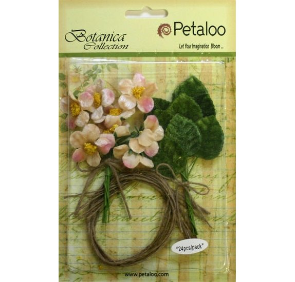 Fleurs 'Petaloo' Botanica Collection' Vintage Velvet Bulk Pack Blush