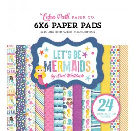 Assortiment 15x15 'Echo Park Paper - Let's Be Mermaid' Qté 24