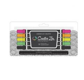 Lot de 5 marqueurs 'American Crafts - Creative Zen' Fluo
