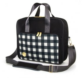Sac d'épaule 'We R Memory Keepers' Plaid Noir
