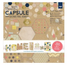 Assortiment 15x15 'Docrafts - Capsule Geometric Kraft' Qté 36