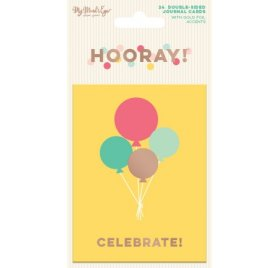 Cartes 10x7.5 cm 'My Mind's Eye - Hooray!' Qté 24