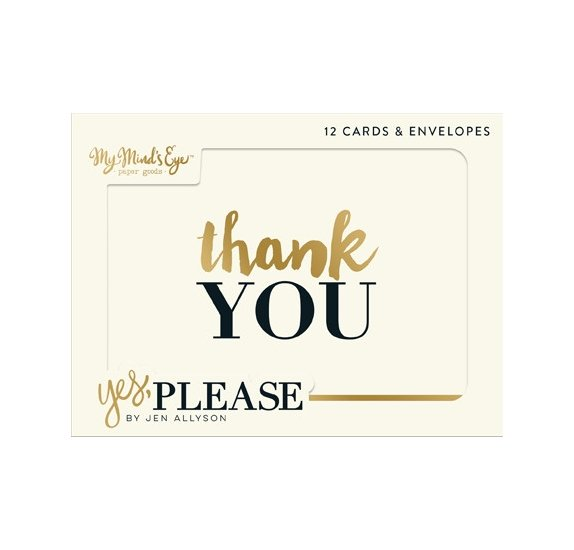 Cartes et enveloppes 'My Mind's Eye - Yes, Please' Qté 12