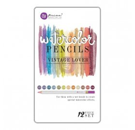 Crayons de couleur aquarellables 'Prima - Watercolor' Vintage Lover Qté 12