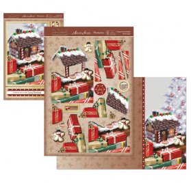 Kit Carte Découpage A5 'Hunkydory Crafts - The Joy of Christmas' Gingerbread Delight