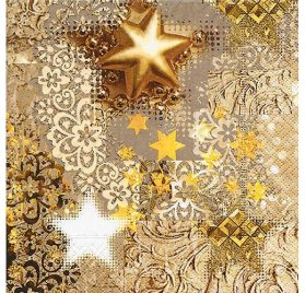 Serviettes 33x33 'Graine Créative' Gold Rush