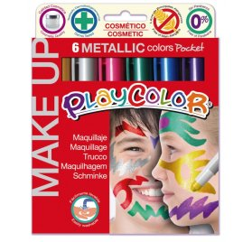Boîte de 6 sticks de maquillage 'Playcolor' Make Up Pocket Metallic 6x5g