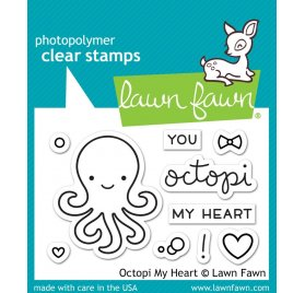 Tampons transparents 'Lawn Fawn' Octopi My Heart