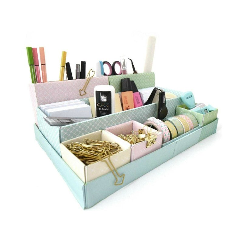 rangement de bureau monter 39 toga diy 39 pastel 31x11x20 cm la fourmi creative. Black Bedroom Furniture Sets. Home Design Ideas