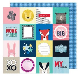 Papier double 30x30  'American Crafts - Little by Little' Think Big