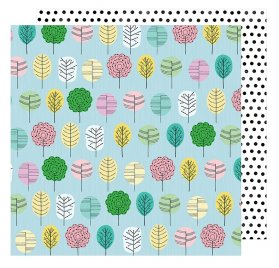 Papier double 30x30  'American Crafts - Little by Little' Grow Happy