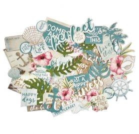 Die-cuts 'My Mind's Eye - Palm Beach' Qté 40