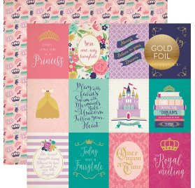 Papier double 30x30 'Echo Park Paper - Once upon a time' Journaling Cards