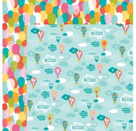 Papier double 30x30 'Bella Blvd - Delight in his day'Sprinkled with bliss