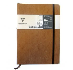 Carnet 14.8x21 cm 'Clairefontaine - Age Bag' Marron 192 Pages à quadrillage pois 90 g/m²