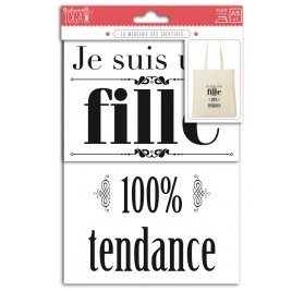 Planches Phrase thermocollant 'Toga' 100% tendance