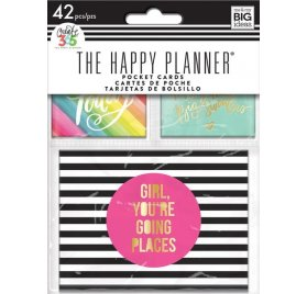 Cartes 5x5 cm et 10x7.5 cm 'Me & My Big Ideas - The Happy Planner' Qté 42