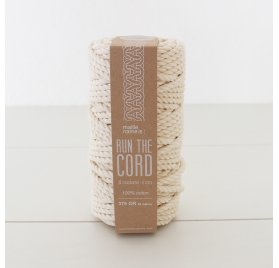 Cordon Wax Macramé 'Kesi Art - Run The Cord' Blanc Naturel
