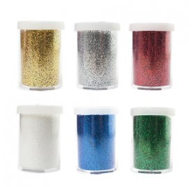 Lot de 6 tubes de poudres de paillettes 'Ammi - Les Z'Etincelants' Couleurs assorties 6x16g