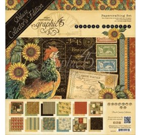 Kit 30x30 'Graphic 45 - French Country' Qté 26