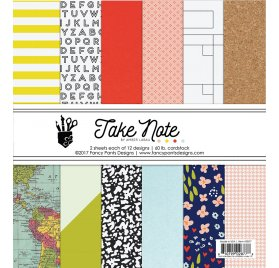 Assortiment 15x15 'Fancy Pants - Take Note' Qté 24