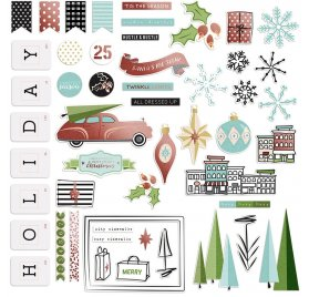 Die-cuts 'Fancy Pants - Holiday Hustle' Ephemera