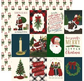 Papier double 30x30 'Echo Park Paper - Twas The Night Before Christmas' Vertical 3x4 Journaling Cards