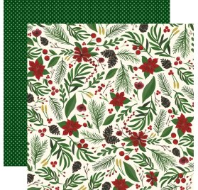 Papier double 30x30 'Echo Park Paper - Twas The Night Before Christmas' Berry Christmas