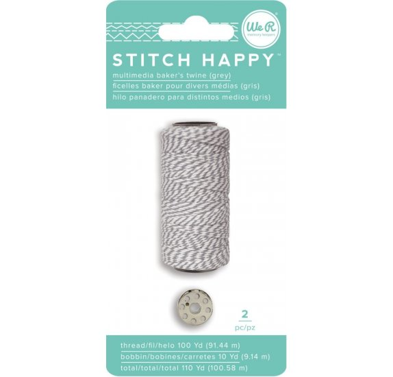 Fil pour couture 'We R Memory Keepers - Stitch Happy' Gris